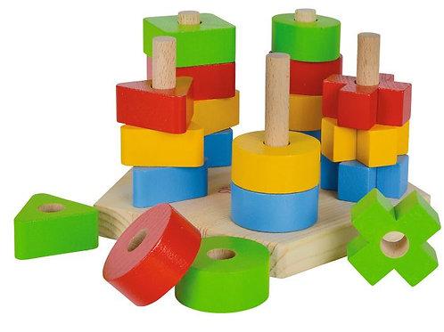 Blokken sorteer en stapelspel eichhorn