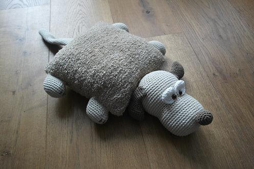 Knuffelkussen hond