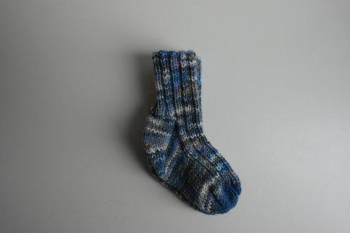 gebreide sokken blauw grijs
