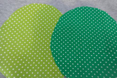 Zonnehoedje stip l. groen/d. groen