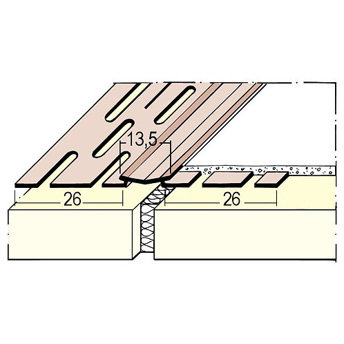 Fleksibel hjørnelist på rull (75 m)
