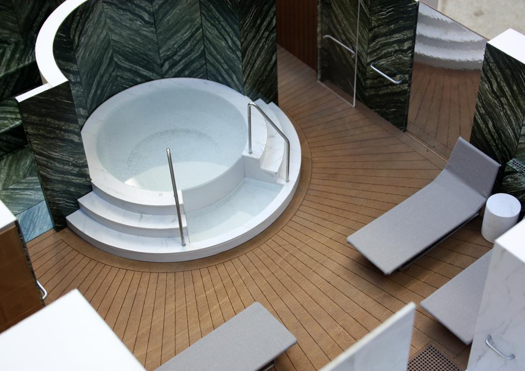 Model Yacht Interior - Spa