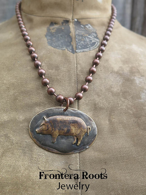 """""""Oink"""" Necklace"""