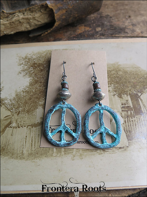 """Peace Out"" Earrings"