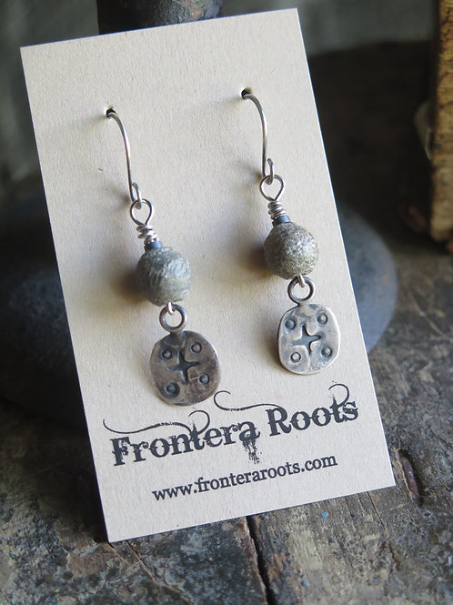 """Etched in Stone"" Earrings"