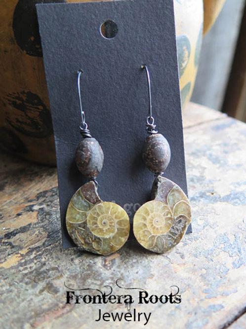 """""""Ammonite"""" Earrings"""