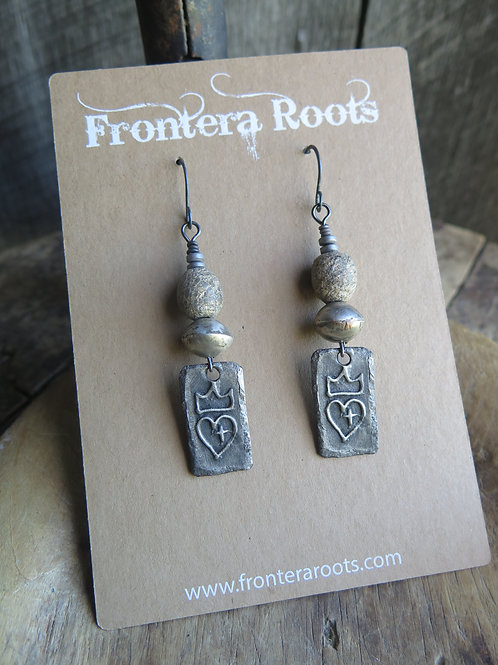 """""""Fit For A Queen"""" Earrings"""
