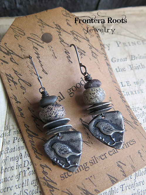 """""""Meadowlark"""" Earrings"""