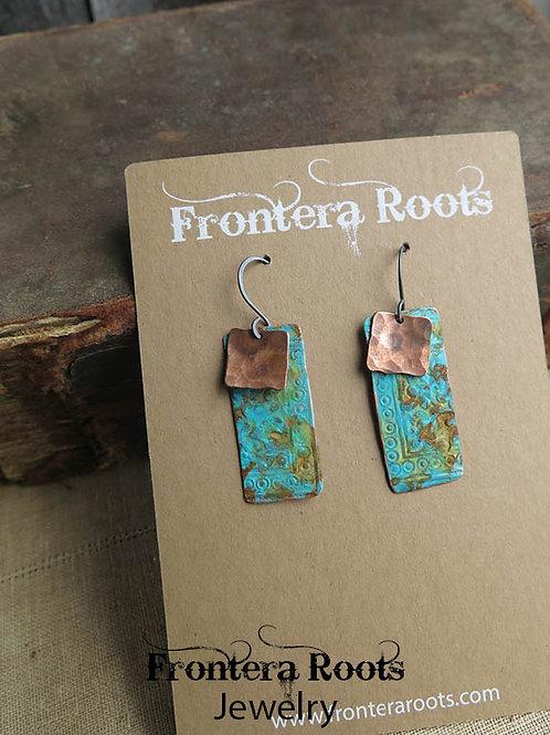 """""""Copper Verde"""" Earrings"""