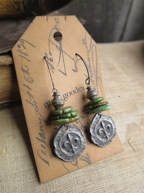 """Fleur-de-Lis""  Earrings"