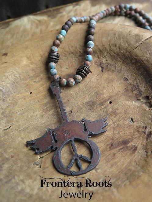 """Love, Peace, Rock Star"" Necklace"