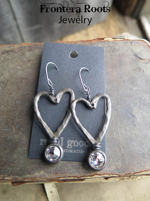 """Iron and Ice"" Earrings"