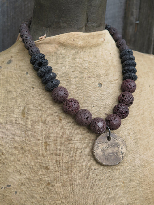 """""""Cave Painting"""" Necklace"""