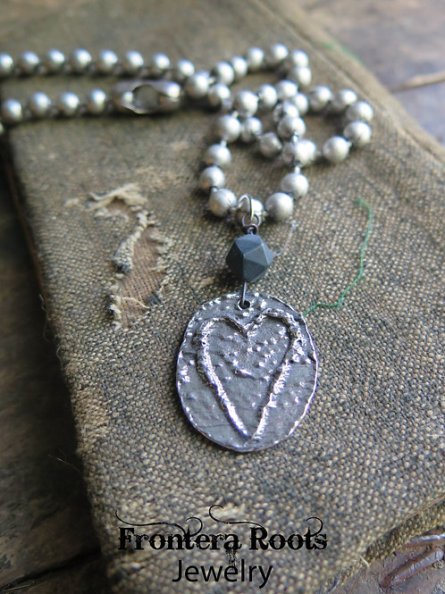 """Cross My Heart"" Necklace"