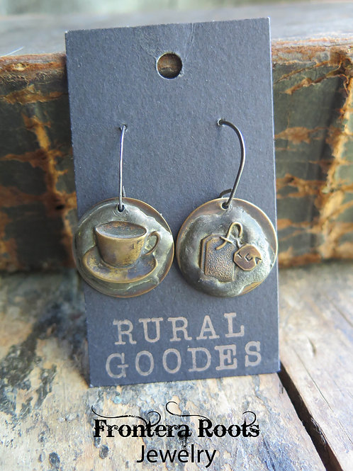 """Tea, Anyone?"" Earrings"