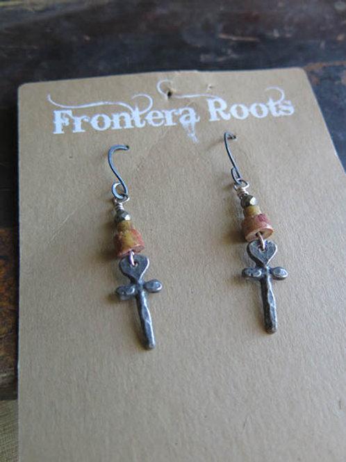 """""""Cross your Heart"""" Earrings"""