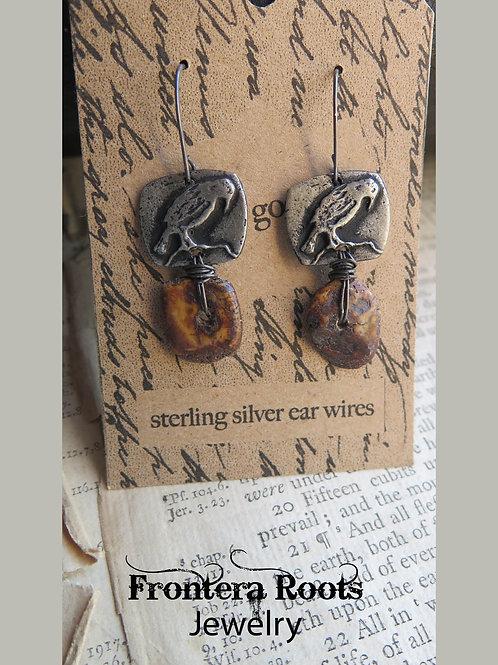 """""""Old Crow"""" Earrings"""