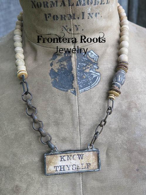 """Know Thyself"" Necklace"