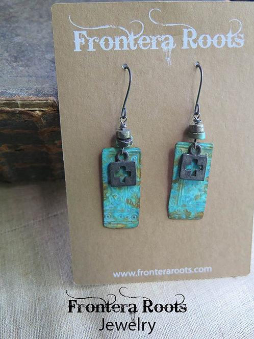 """Azure Tin"" Earrings"