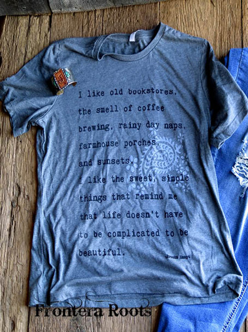 """""""Old Bookstores"""" T Shirt"""