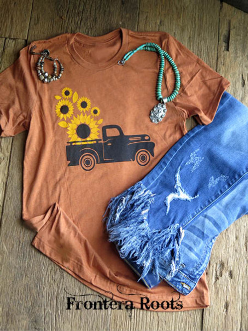 """Sunflower Truck"" T Shirt"