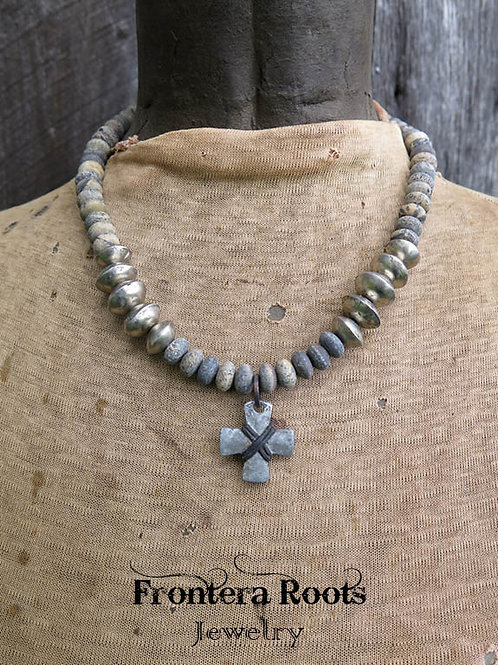 """Vintage Pewter"" Necklace"