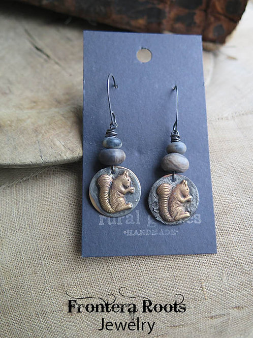 """""""Squirrelly"""" Earrings"""