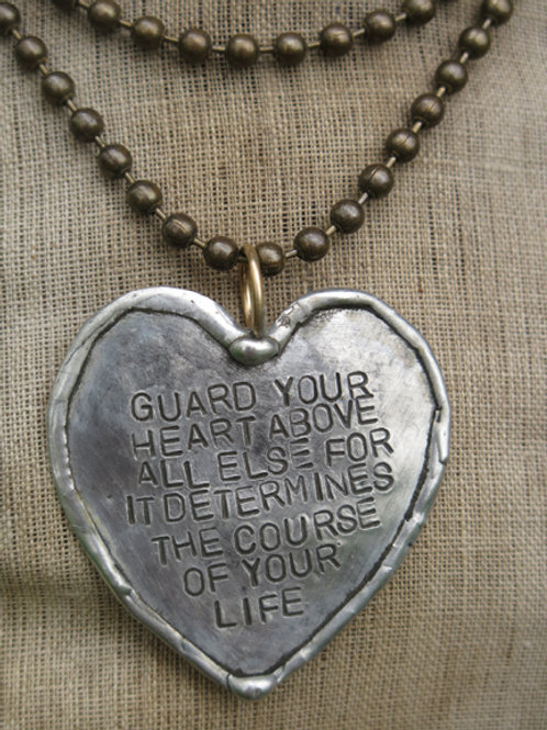 """""""Guard Your Heart"""" Necklace"""