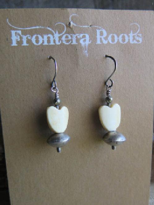 """""""Heart of Bone"""" Earrings"""