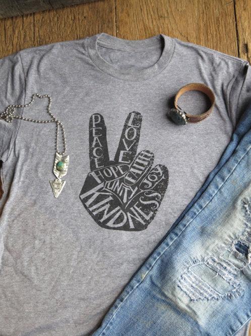 """Kindness-Hope-Love"" T Shirt"