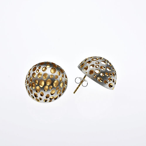 Silver / Gold Small Half Bowl Earrings