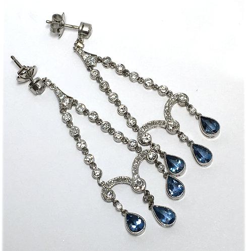 Platinum Dangle Earrings