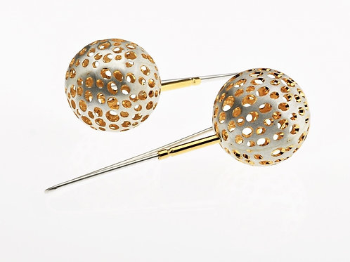 Silver / Gold Small Ball Earrings