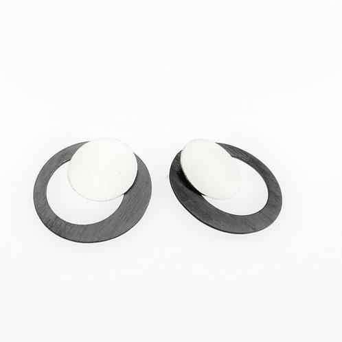 Oxidized / Silver Mini Post Earrings