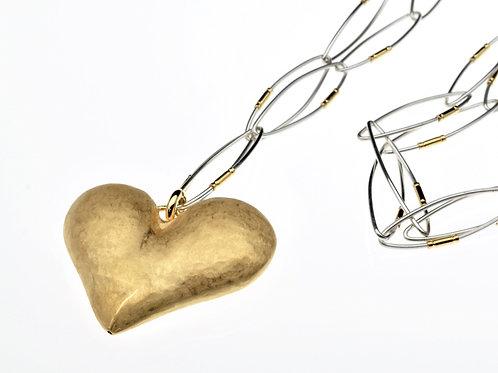 Gold Heart Pendant onChain