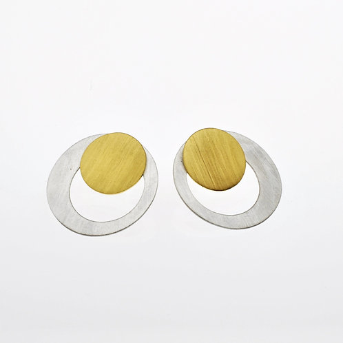 Silver / Gold Mini Round Post Earrings