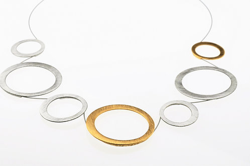 Silver /Gold Large Circle Necklace