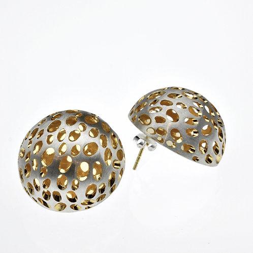 Silver / Gold Half Bowl Earrings