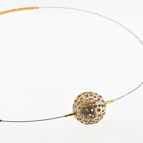 Silver / Gold Small Ball Necklace