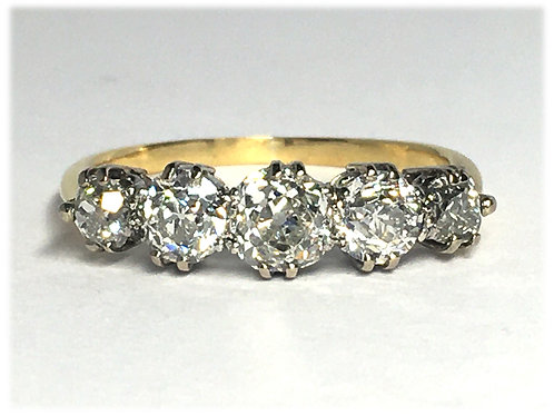 Platinum/18K Antique Ring (Refurbished)
