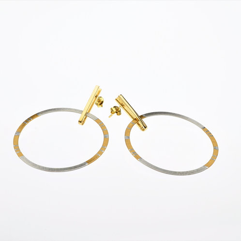 Silver / Gold Large Hoop Earrings
