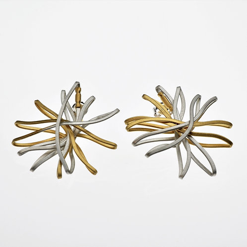 Silver / Gold Flower Earring