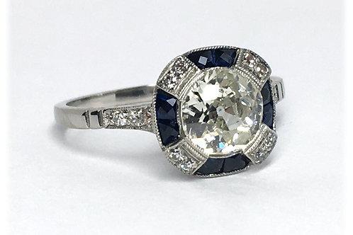 Platinum Deco-STYLE Ring