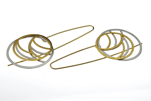 Silver / Gold Round Earring