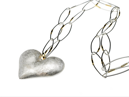 Heart Pendant on Sterling Silver Chain