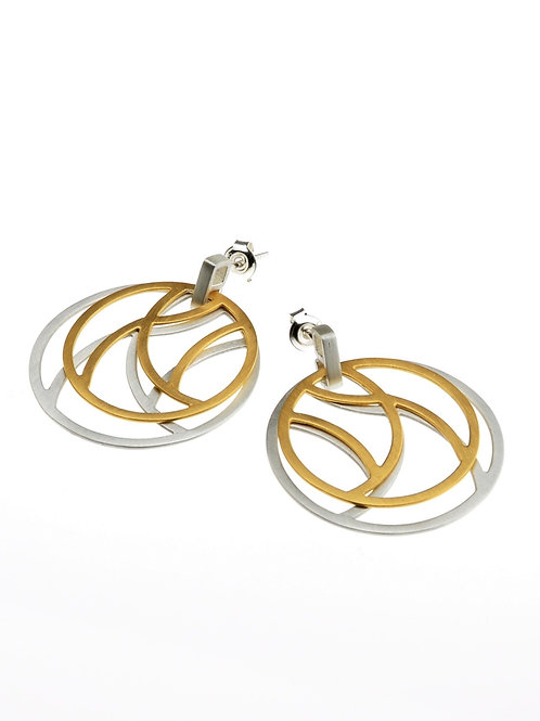 Silver / Gold Round Post Earrings