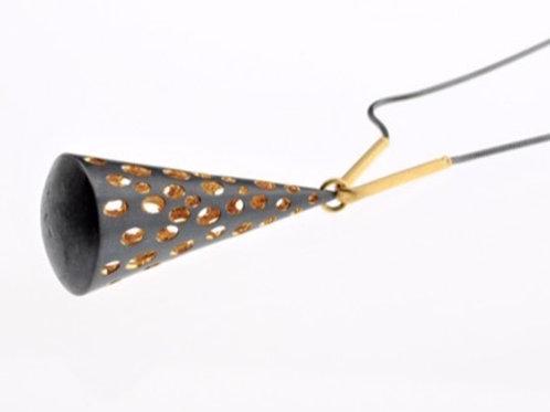Oxidized Cone Necklace