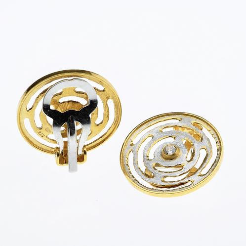 Mini RoundSilver / Gold Earring