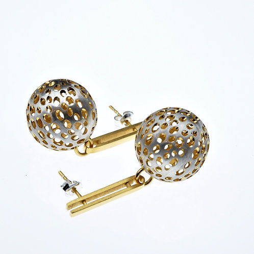 Silver / Gold Small Ball on Post Earrings