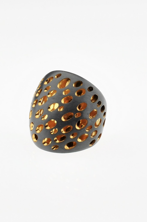 Oxidized / Gold Ring